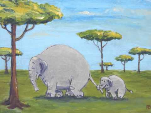 olifantje in het bos, laat je moeders staart niet los…