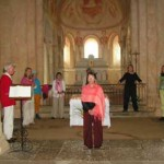 zingen in Romaanse dorpskerkjes